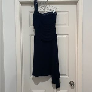 Laundry off shoulder mini dress 10 black